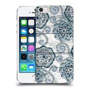 Official Micklyn Le Feuvre On Wood Shabby Chic Navy Blue Doodles Hard Back Case For Apple Iphone 5 / 5S / Se