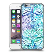 Official Micklyn Le Feuvre Mandala 2 Iridescent Aqua And Purple Watercolour Hard Back Case For Apple Iphone 6 / 6S