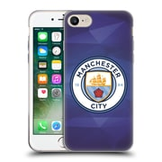 Official Manchester City Man City Fc Badge Geometric Obsidian Full Colour Soft Gel Case For Apple Iphone 7