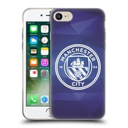 Official Manchester City Man City Fc Badge Geometric Obsidian White Mono Soft Gel Case For Apple Iphone 7