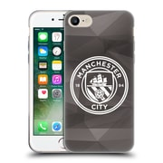Official Manchester City Man City Fc Badge Geometric Black White Mono Soft Gel Case For Apple Iphone 7