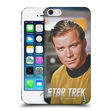 Official Star Trek Embossed Captain Kirk Smirk Hard Back Case For Apple Iphone 5 / 5S / Se
