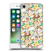 Official Micklyn Le Feuvre Patterns 2 Guinea Pigs And Daisies In Watercolour On Pink Hard Back Case For Apple Iphone 7