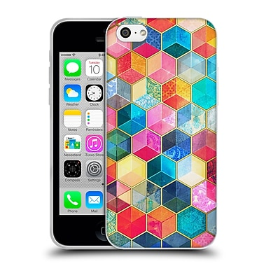 Official Micklyn Le Feuvre Hexagon Patterns Crystal Bohemian Honeycomb Cubes Soft Gel Case For Apple Iphone 5C