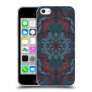 Official Micklyn Le Feuvre Mandala Fancy Navy Blue And Red Soft Gel Case For Apple Iphone 5C