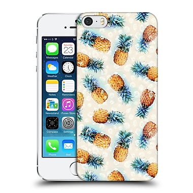 Official Micklyn Le Feuvre Patterns Pineapples And Crystals Hard Back Case For Apple Iphone 5 / 5S / Se