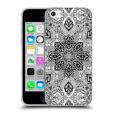 Official Micklyn Le Feuvre Mandala Lace In Monochrome Soft Gel Case For Apple Iphone 5C