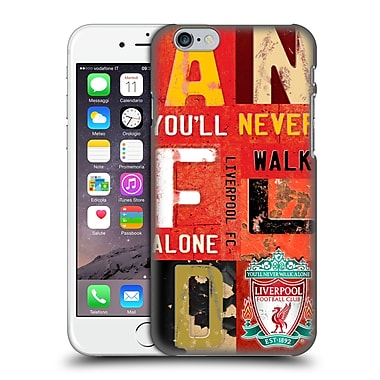 Official Liverpool Football Club Crest Never Walk Alone Vintage Plate Anfield Hard Back Case For Apple Iphone 6 / 6S