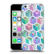 Official Micklyn Le Feuvre Holiday Patterns Christmas Hexagons Watercolour Gift Boxes Soft Gel Case For Apple Iphone 5C
