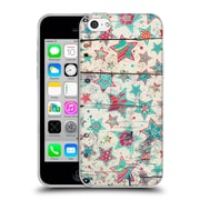 Official Micklyn Le Feuvre Holiday Patterns Grunge Stars On Shabby Chic White Painted Wood Soft Gel Case For Apple Iphone 5C
