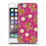 Official Emoji Christmas Patterns Gingerbread Cookies Soft Gel Case For Apple Iphone 6 / 6S