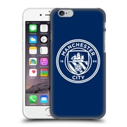 Official Manchester City Man City Fc Badge Obsidian White Mono Hard Back Case For Apple Iphone 6 / 6S