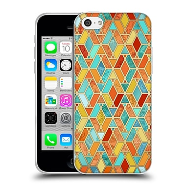 Official Micklyn Le Feuvre Hexagon Patterns Tangerine And Turquoise Tile Soft Gel Case For Apple Iphone 5C