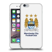 Official Manchester City Man City Fc Crest Full Colour White Soft Gel Case For Apple Iphone 6 / 6S