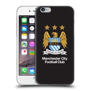 Official Manchester City Man City Fc Crest Full Colour On Black Soft Gel Case For Apple Iphone 6 / 6S