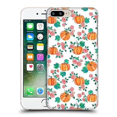 Official Micklyn Le Feuvre Floral Patterns 2 Pumpkins And Roses On White Hard Back Case For Apple Iphone 7 Plus