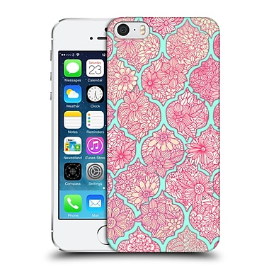 Official Micklyn Le Feuvre Moroccan Pink And Teal Hard Back Case For Apple Iphone 5 / 5S / Se