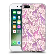 Official Micklyn Le Feuvre Wildlife Pink Giraffes Soft Gel Case For Apple Iphone 7 Plus