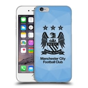 Official Manchester City Man City Fc Crest Geometric Sky Geo Full Black Soft Gel Case For Apple Iphone 6 / 6S