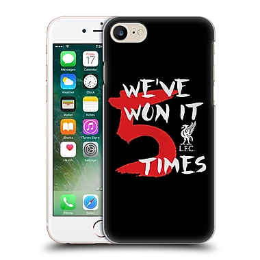 Official Liverpool Football Club Won 5 Times Black 1 Hard Back Case For Apple Iphone 7
