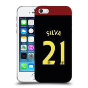 Official Manchester City Man City Fc Away Kit 2016/17 2 Silva Soft Gel Case For Apple Iphone 5 / 5S / Se