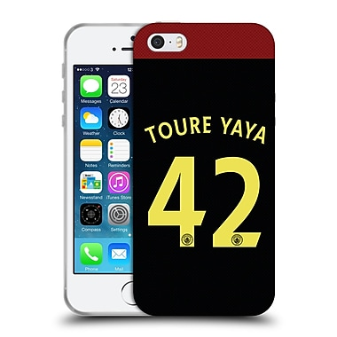 Official Manchester City Man City Fc Away Kit 2016/17 2 Toure Soft Gel Case For Apple Iphone 5 / 5S / Se