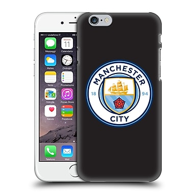 Official Manchester City Man City Fc Badge Black Full Colour Hard Back Case For Apple Iphone 6 / 6S