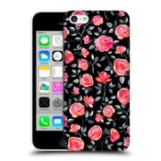 Official Micklyn Le Feuvre Florals Roses On Black Hard Back Case For Apple Iphone 5C