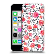 Official Micklyn Le Feuvre Florals Roses On White Hard Back Case For Apple Iphone 5C