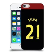 Official Manchester City Man City Fc Away Kit 2016/17 2 Silva Hard Back Case For Apple Iphone 5 / 5S / Se