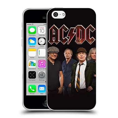 Official Ac/Dc Acdc Group Photo Crew Studio Shot Soft Gel Case For Apple Iphone 5C