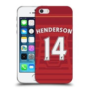 Official Liverpool Football Club Players Home Kit 16/17 Group 1 Henderson Soft Gel Case For Apple Iphone 5 / 5S / Se
