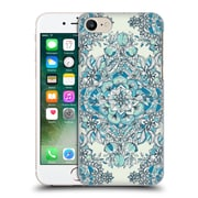Official Micklyn Le Feuvre Floral Patterns Diamond Doodle In Teal And Tuquoise Hard Back Case For Apple Iphone 7