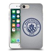 Official Manchester City Man City Fc Badge Pixels Tile Obsidian Mono Soft Gel Case For Apple Iphone 7