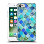 Official Micklyn Le Feuvre Moroccan Aqua And Gold Soft Gel Case For Apple Iphone 7