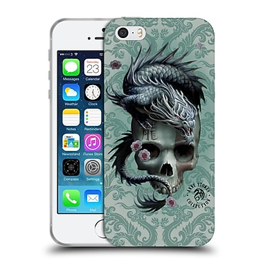 Official Anne Stokes Oriental Skull Green Dragon Swirls Soft Gel Case For Apple Iphone 5 / 5S / Se