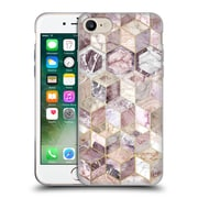 Official Micklyn Le Feuvre Marble Patterns Blush Quartz Honeycomb Soft Gel Case For Apple Iphone 7