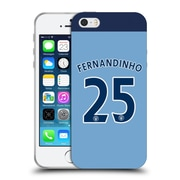 Official Manchester City Man City Fc Player Home Kit 2016/17 Group 2 Fernandinho Soft Gel Case For Apple Iphone 5 / 5S / Se