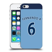 Official Manchester City Man City Fc Player Home Kit 2016/17 Group 2 Fernando Soft Gel Case For Apple Iphone 5 / 5S / Se