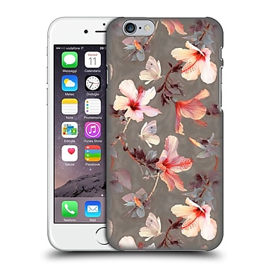 Official Micklyn Le Feuvre Florals Coral Hibiscus Hard Back Case For Apple Iphone 6 / 6S