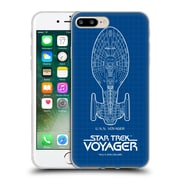 Official Star Trek Ships Of The Line Voy Uss Voyager Soft Gel Case For Apple Iphone 7 Plus