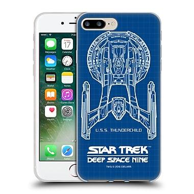 Official Star Trek Ships Of The Line Ds9 Uss Thunderchild Soft Gel Case For Apple Iphone 7 Plus