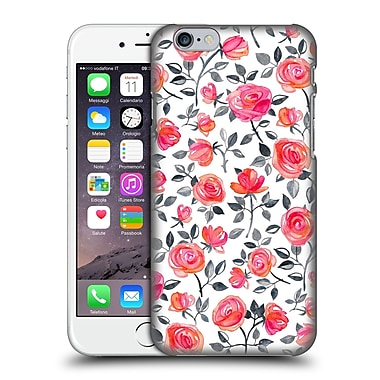 Official Micklyn Le Feuvre Florals Roses On White Hard Back Case For Apple Iphone 6 / 6S
