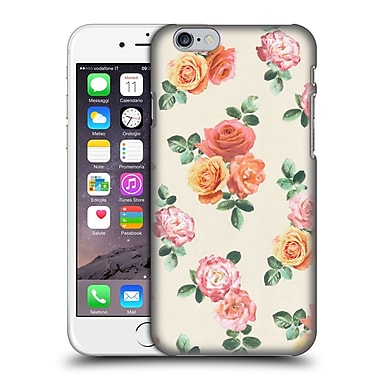 Official Micklyn Le Feuvre Florals Peach And Pink Roses Hard Back Case For Apple Iphone 6 / 6S
