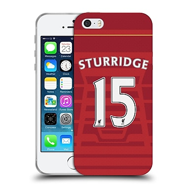 Official Liverpool Football Club Players Home Kit 16/17 Group 1 Sturridge Soft Gel Case For Apple Iphone 5 / 5S / Se
