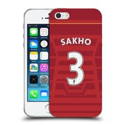 Official Liverpool Football Club Players Home Kit 16/17 Group 1 Sakho Soft Gel Case For Apple Iphone 5 / 5S / Se
