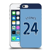 Official Manchester City Man City Fc Player Home Kit 2016/17 Group 1 Stones Soft Gel Case For Apple Iphone 5 / 5S / Se