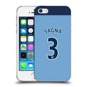 Official Manchester City Man City Fc Player Home Kit 2016/17 Group 1 Sagna Soft Gel Case For Apple Iphone 5 / 5S / Se