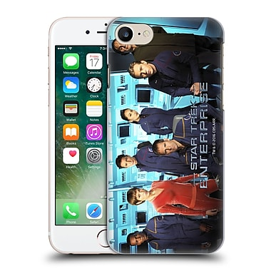 Official Star Trek Iconic Characters Ent Full Cast Hard Back Case For Apple Iphone 7