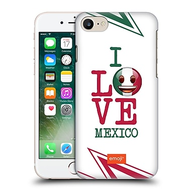 Official Emoji I Love My Country Mexico Hard Back Case For Apple Iphone 7